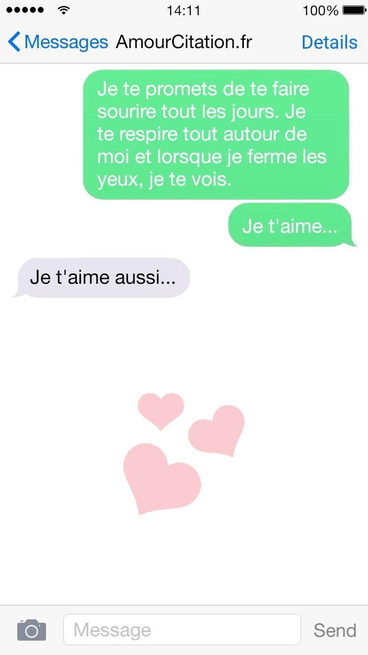 sms déclaration amour